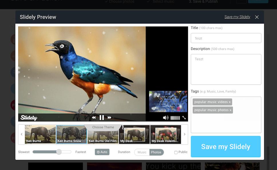 Látványos videó-slideshow percek alatt, ingyen