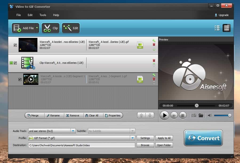 Így konvertálhatunk GIF animációvá bármilyen videót | Techwok.hu