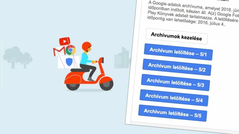 Címjegyzék, levelezés és fotók mentése Google fiókból a gépünkre