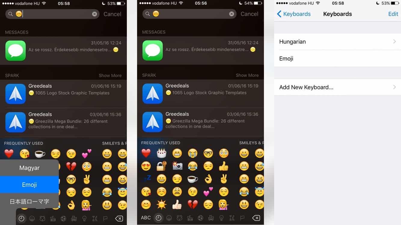 Keresés emojik segítségével az iPhone-on | Techwok.hu