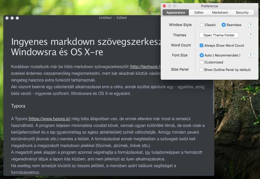 Ingyenes markdown szövegszerkesztő Windowsra és OS X-re | Techwok.hu