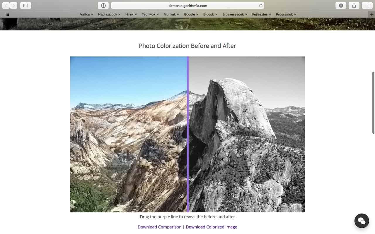 Fekete-fehér fotók színezése automatikusan, online   Techwok.hu