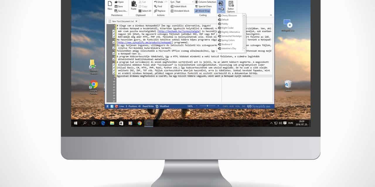 Gagyi a Windows Notepad? Íme egy zseniális alternatíva, ingyen!