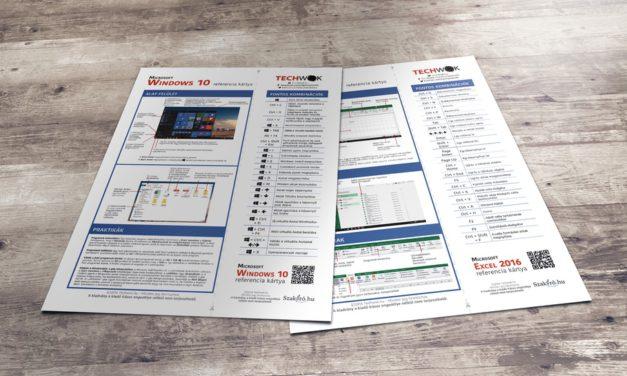 Ingyen letölthető Windows, Office és OS X referencia kártyák