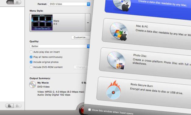 Toast 15: digitális eszköztár, DVD írástól a képszerkesztésig