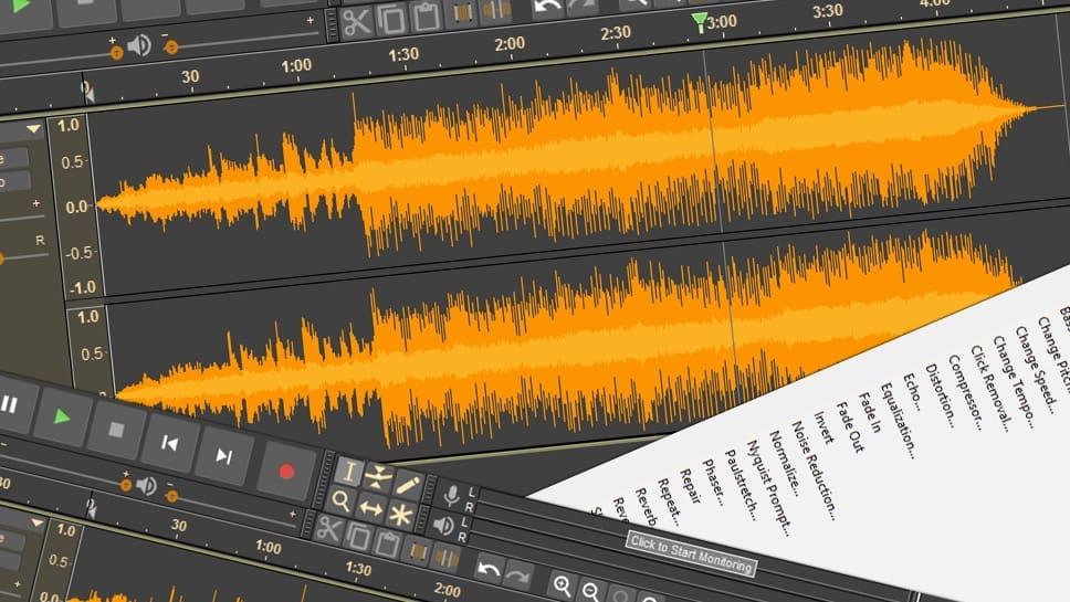 Fekete Audacity: ingyenes hangszerkesztő, új köntösben