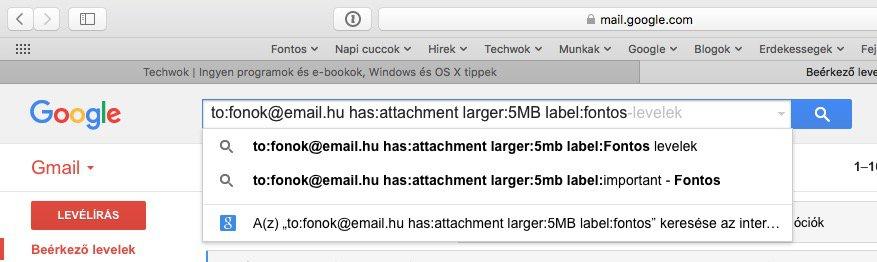 Gmail szűrők: hatékonyabb keresés és postafiók takarítás   Techwok.hu