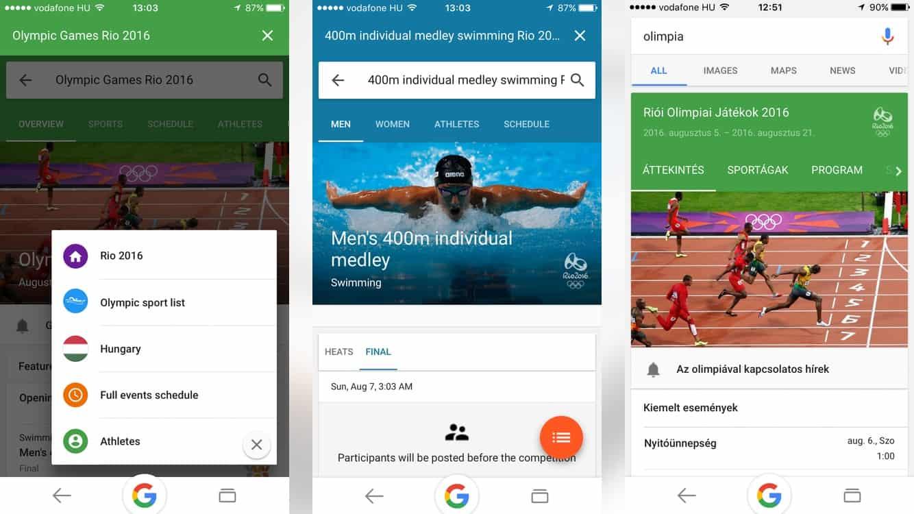 Így tudhat meg mindent az olimpiáról a Google-ből | Techwok.hu
