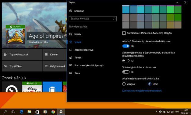 Így állíthatjuk át a Windows 10-et éjszakai, fekete témára