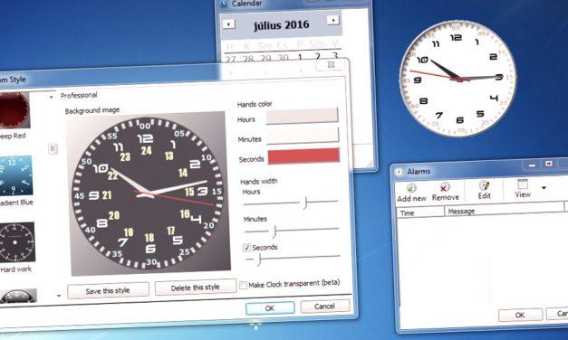 TOP 3: látványos analóg órák a Windows Asztalára, ingyen