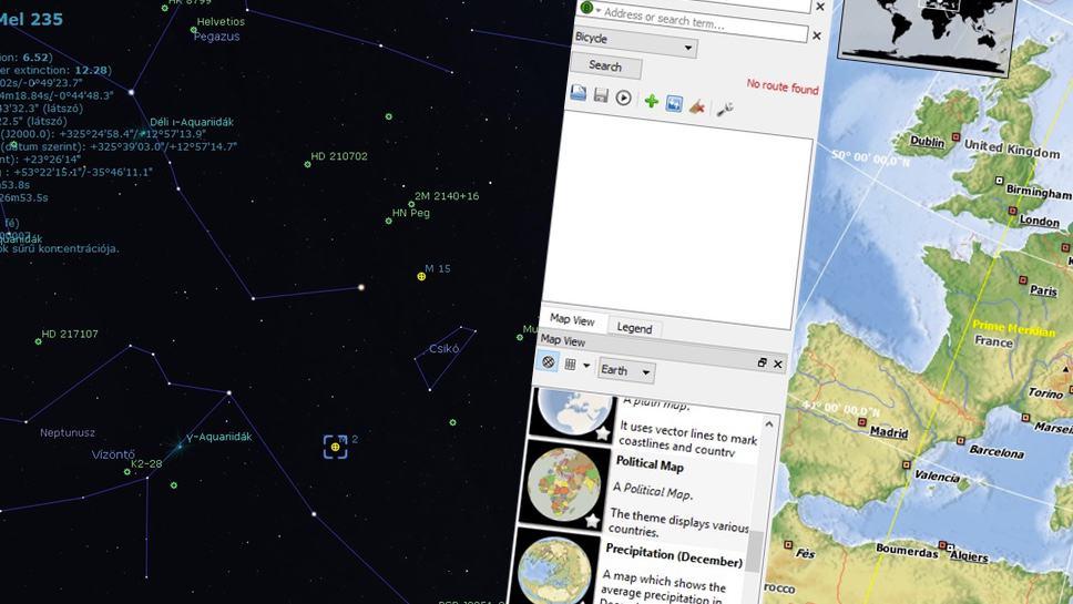 Interaktív földgömb és csillagászati szoftverek, ingyen