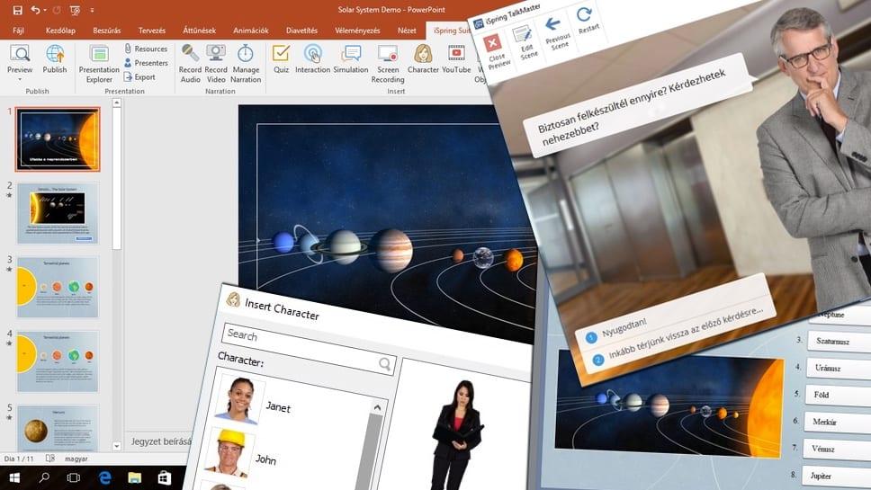 iSpring Suite: profi e-learning fejlesztés, PowerPointra alapozva