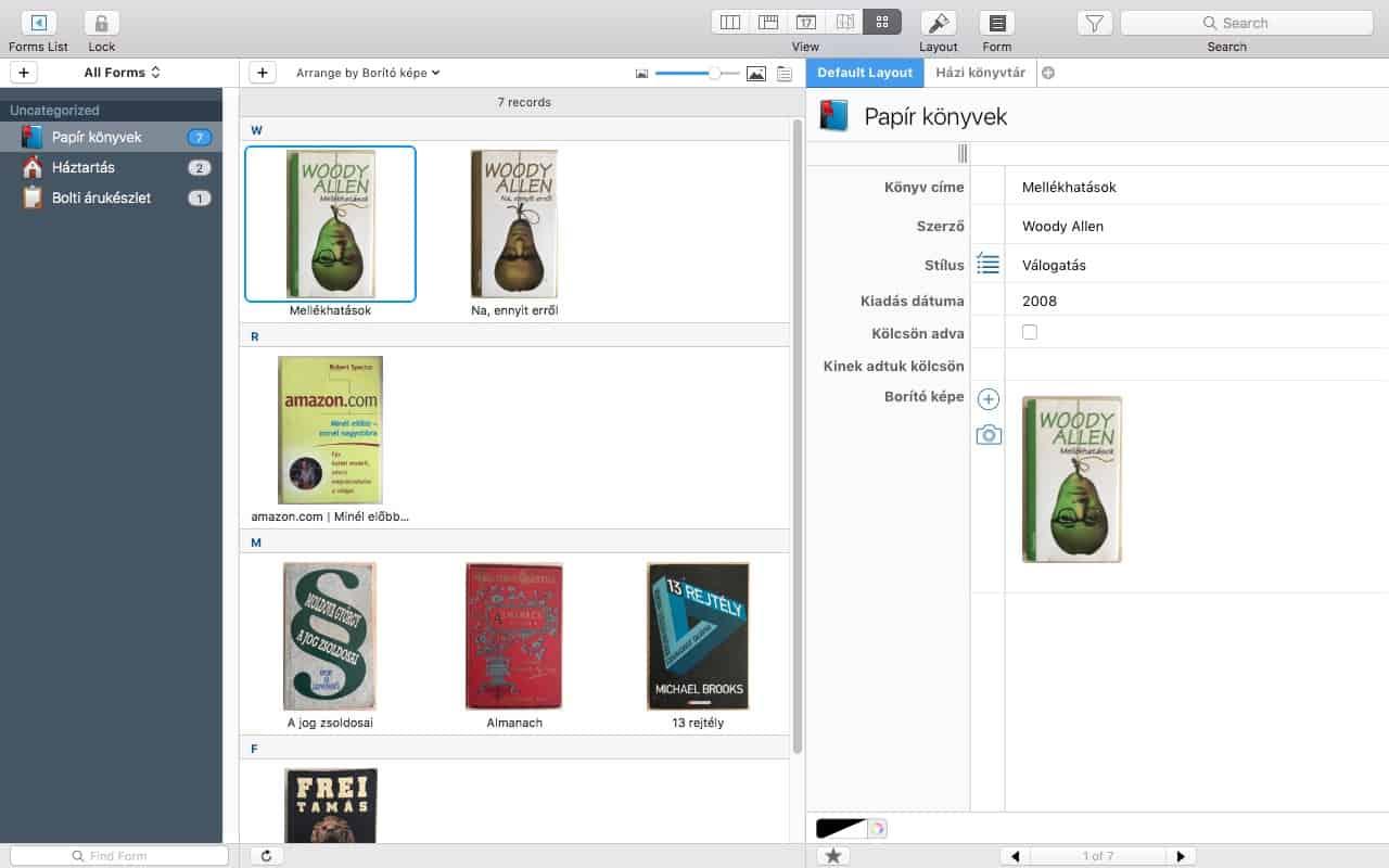Könyvek, receptek, ügyfelek rendszerezése, egyetlen programban | Techwok.hu