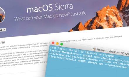 Így készíthetünk macOS Sierra telepítő USB-t
