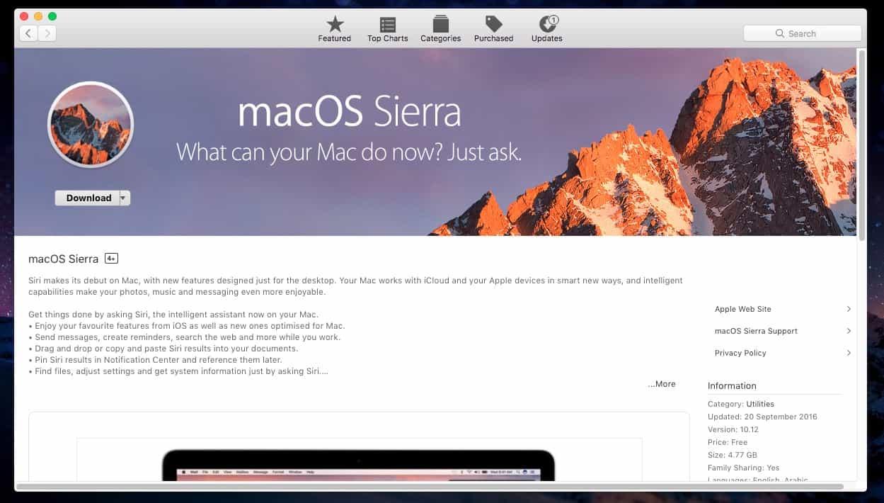 Így készíthetünk macOS Sierra telepítő USB-t | Techwok.hu