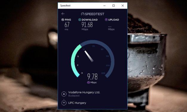Így mérheti meg internet elérése sebességét Windows 10 alatt