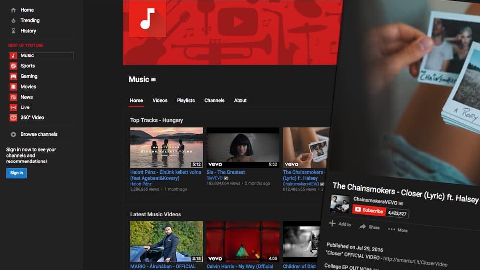Látványos fekete felület a Youtube-hoz, ingyen