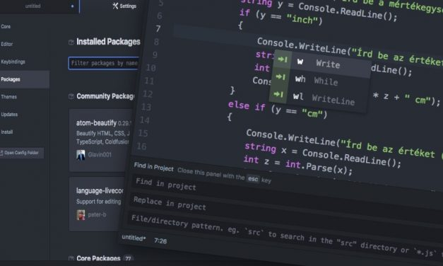 Sokoldalú és ingyenes kódszerkesztő program