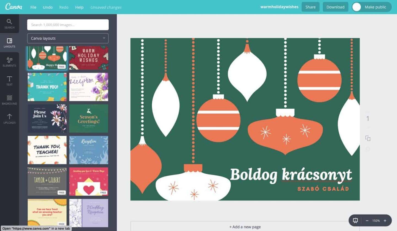 Karácsonyi képeslapok készítése házilag, ingyen | Techwok.hu