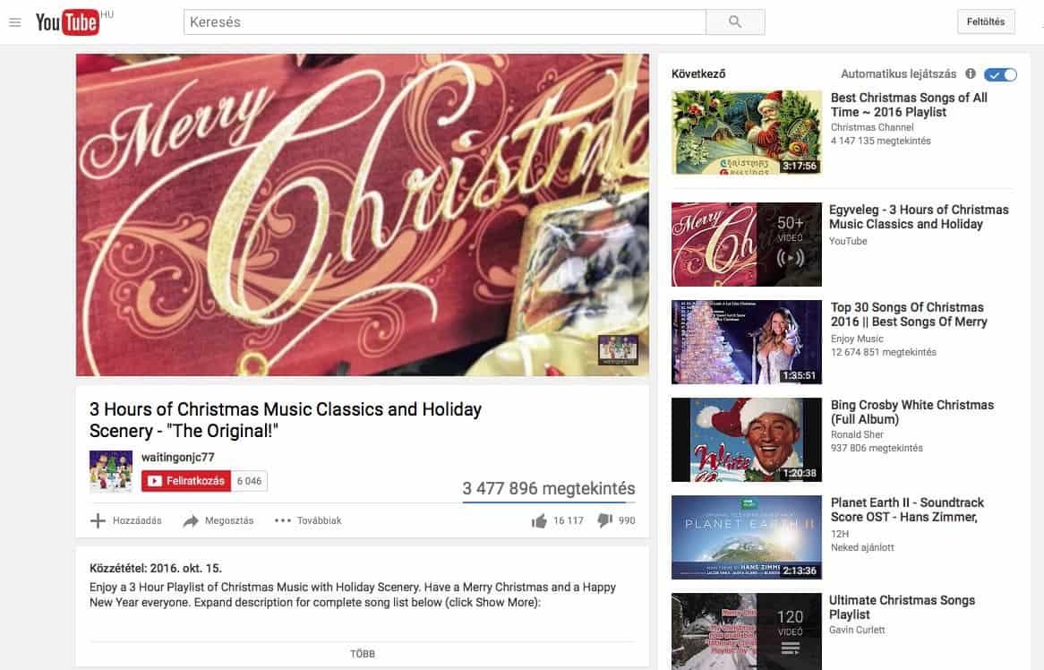Így hallgathatók karácsonyi dalok, ingyen | Techwok.hu