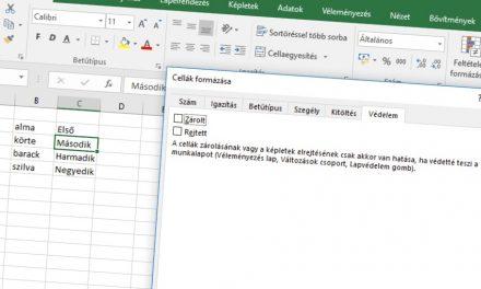 Csak a kiválasztott cellák zárolása Excelben