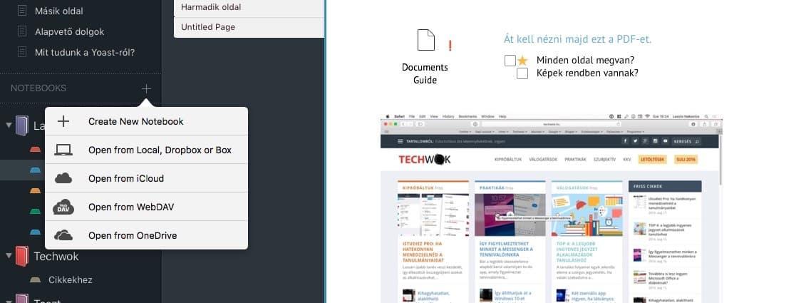 Egy remek jegyzet app Macre és iOS-re | Techwok.hu