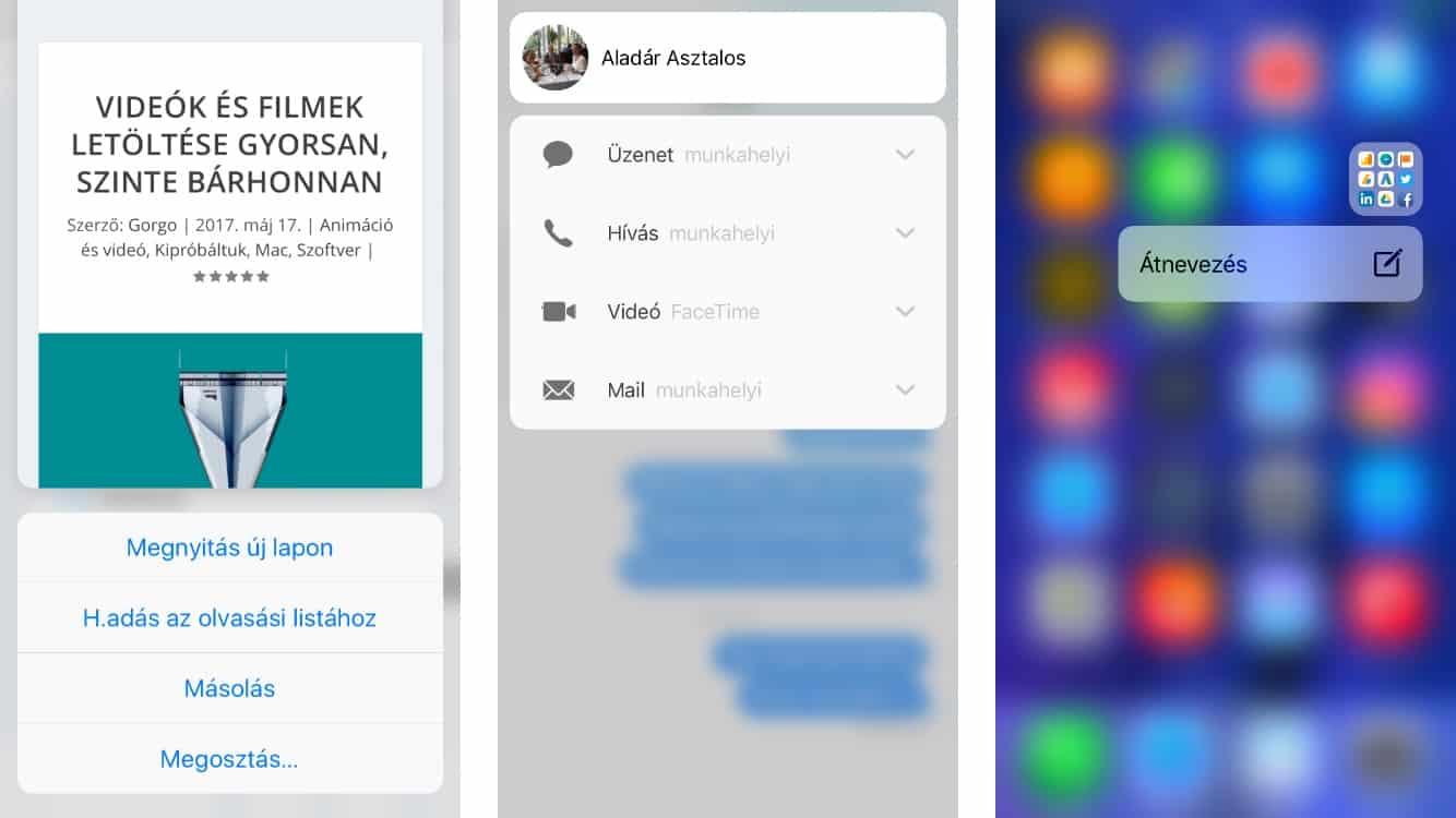 Kevésbé ismert, de hasznos iPhone 3D Touch funkciók | Techwok.hu