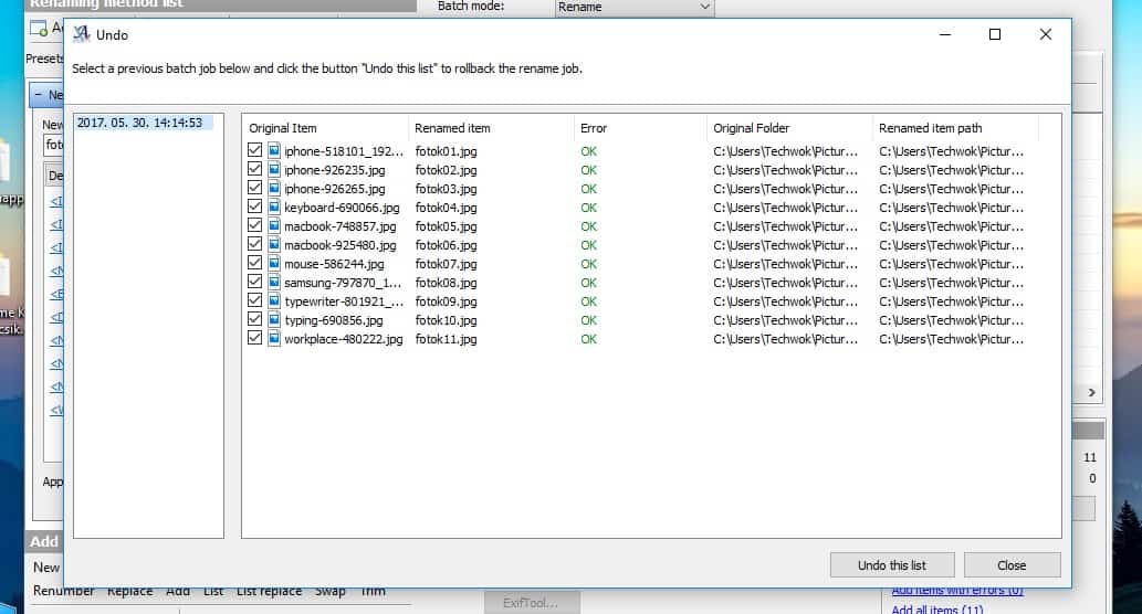Fájlok csoportos átnevezése Windowsban   Techwok.hu