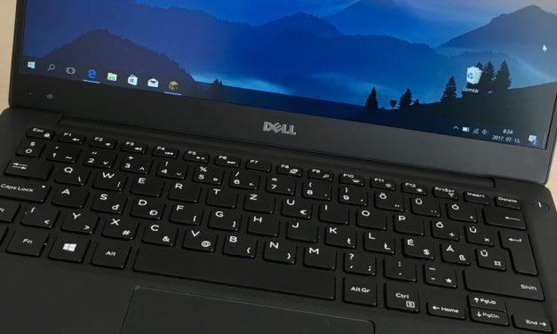 Dell XPS 13 9360: kicsi és könnyű erőgép