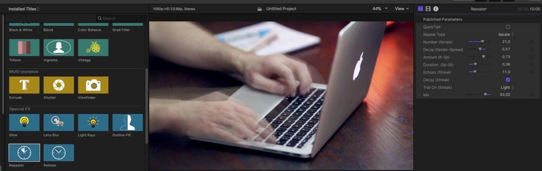 Az egyik legjobb kiegészítő eszköztár Final Cut Pro-hoz | Techwok.hu