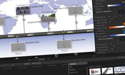 Látványos idővonal létrehozása videókban, átmenetekből