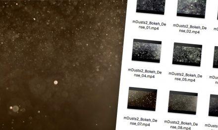 Látványos szálló por effekt videókra, több videoszerkesztőhöz