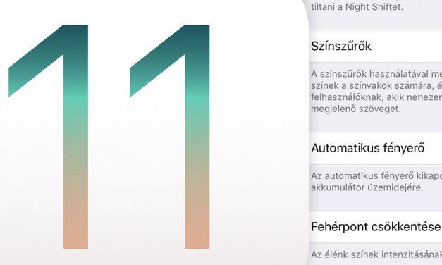 iOS 11: automatikus fényerő szabályozás kikapcsolása