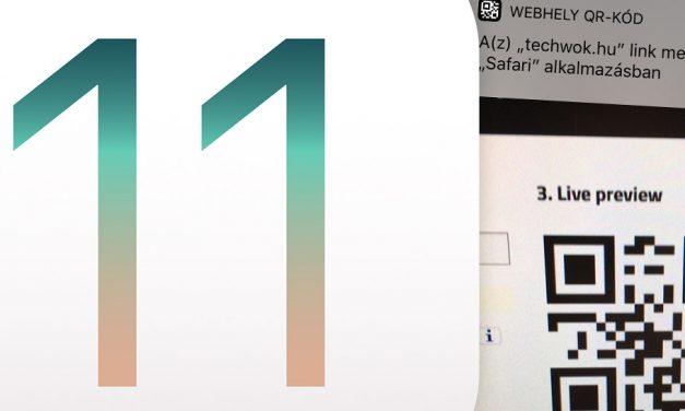 QR kód beolvasás iOS 11 alatt, a Kamera appal