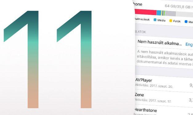 Programok törlése iOS 11-en akár automatikusan is