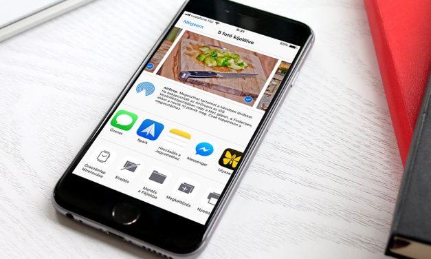Fotók mentése Google Drive-ba, Dropbox-ba az iPhone-on