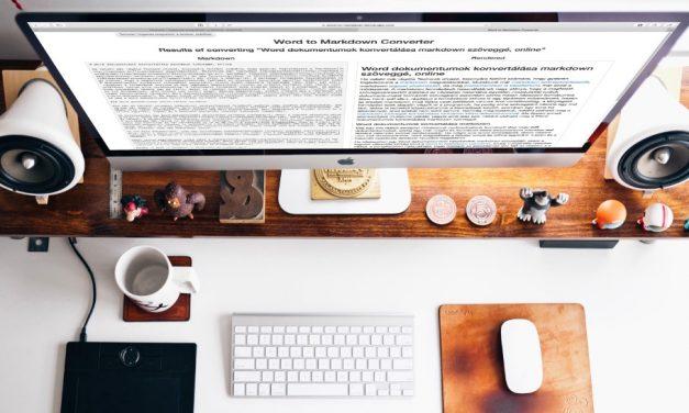 Word dokumentum konvertálása markdown szöveggé, online
